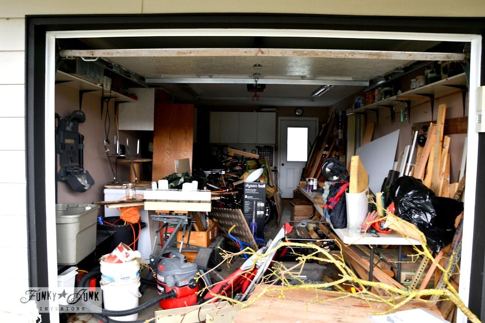 garage full of rubbish