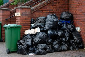 Refuse Bags outside a house ready for rubbish removal